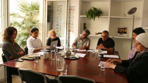 وفد رابطة عائلات قيصر والمركز السوري للإعلام وحرية التعبير ومركز توثيق الانتهاكات في اجتماع مع فريق عمل الفدرالية الدولية لحقوق الإنسان