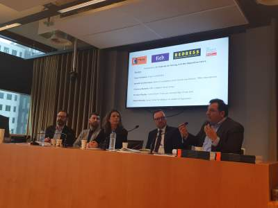 الجلسة الحوارية لمناقشة تقرير الولاية القضائية العالمية