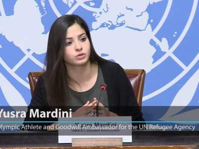 الرياضية الأولمبية اللاجئة السورية يسرى مارديني سفيرة للنوايا الحسنة