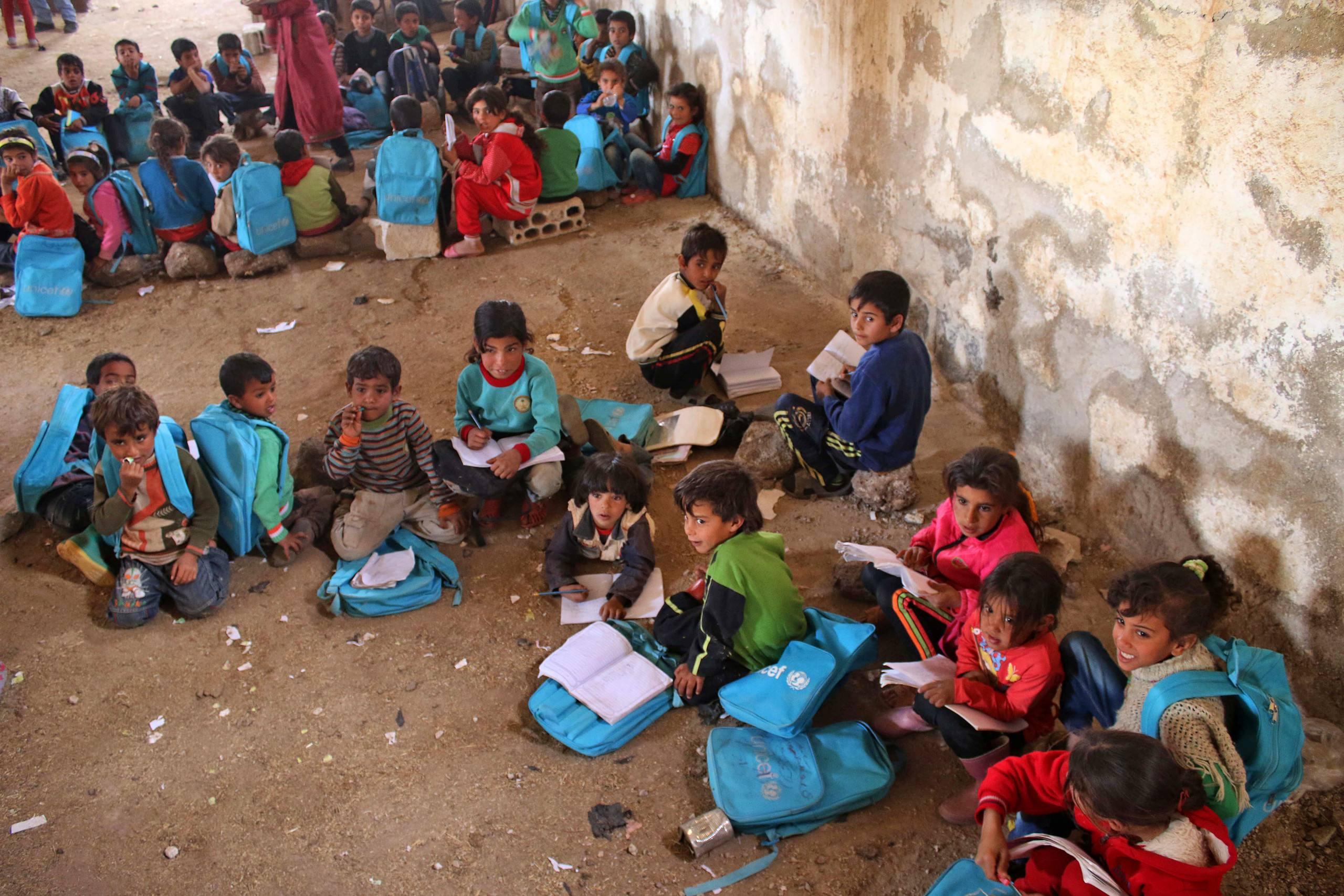 SYRIA-CONFLICT-DARAA-EDUCATION-CHILDREN