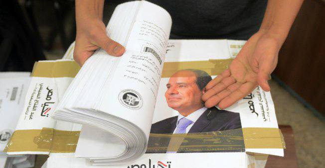 Sissi Candidat Egypte 250118